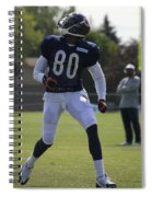 Chicago Bears Wr Armanti Edwards Training Camp 2014 03 Spiral Notebook
