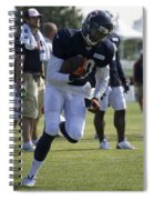 Chicago Bears Wr Armanti Edwards Training Camp 2014 05 Spiral Notebook