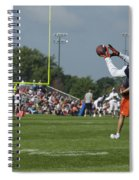 Chicago Bears Wr Armanti Edwards Training Camp 2014 08 Spiral Notebook
