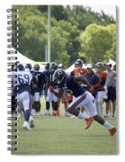 Chicago Bears Wr Brandon Marshall Training Camp 2014 05 Spiral Notebook