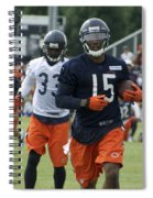 Chicago Bears Wr Brandon Marshall Training Camp 2014 06 Spiral Notebook