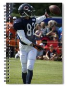 Chicago Bears Wr Chris Williams Training Camp 2014 04 Spiral Notebook