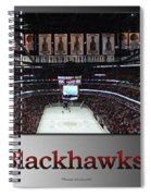 Chicago Blackhawks At Home Panorama Sb Spiral Notebook