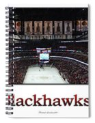 Chicago Blackhawks At Home Panorama White Spiral Notebook