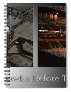 Chicago Blackhawks Before The Gates Open Interior 2 Panel Sb Spiral Notebook
