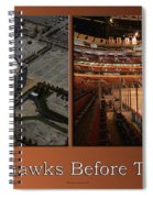 Chicago Blackhawks Before The Gates Open Interior 2 Panel Tan 01 Spiral Notebook