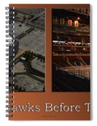 Chicago Blackhawks Before The Gates Open Interior 2 Panel Tan Spiral Notebook