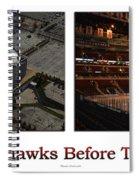 Chicago Blackhawks Before The Gates Open Interior 2 Panel White 01 Spiral Notebook