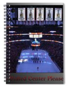 Chicago Blackhawks Please Stand Up With Red Text Sb Spiral Notebook