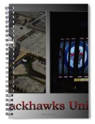 Chicago Blackhawks United Center 2 Panel Sb Spiral Notebook