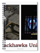 Chicago Blackhawks United Center 2 Panel White Signage Spiral Notebook