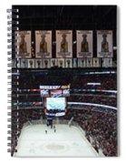 Chicago Blackhawks United Center Panorama 03 Spiral Notebook
