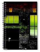 Chicago Brick Facade Glow Spiral Notebook