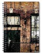 Chicago Brick Facade Grunge Spiral Notebook