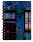 Chicago Brick Facade Night Moves Spiral Notebook