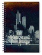 Chicago Buckingham Fountain Northside Textured Spiral Notebook