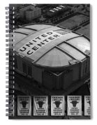 Chicago Bulls Banners In Black And White Spiral Notebook