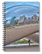 Chicago Cloud Gate Spiral Notebook