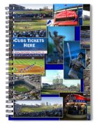 Chicago Cubs Collage Spiral Notebook