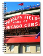 Chicago Cubs Marquee Sign Spiral Notebook