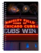 Chicago Cubs Win Fireworks Night Spiral Notebook