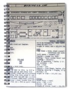 Chicago Eastern Il Rr Business Car Blue Print Spiral Notebook