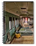 Chicago Eastern Il Rr Car Restoration With Blue Print Spiral Notebook
