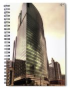 Chicago Facade 333 W Wacker Hdr Spiral Notebook