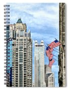 Chicago - Flags Along Michigan Avenue Spiral Notebook