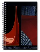 Chicago Flamingo Abstract 01 2 Panel Spiral Notebook
