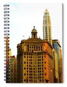 Chicago Glow Spiral Notebook