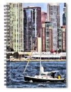 Chicago Il - Sailing On Lake Michigan Spiral Notebook