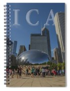 Chicago Illinois Bean Letters Spiral Notebook