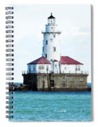 Chicago Illinois Harbor Lighthouse Close Up Usa Spiral Notebook
