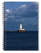 Chicago Illinois Harbor Lighthouse Early Evening Usa Spiral Notebook