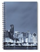 Chicago In Blue Spiral Notebook