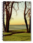Chicago Lakefront Trail And Lincoln Spiral Notebook