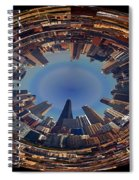 Chicago Looking East Polar View Spiral Notebook
