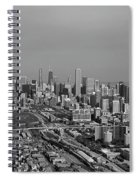 Chicago Looking North 01 Black And White Spiral Notebook