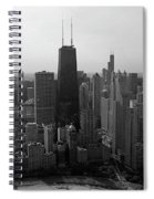 Chicago Looking South 01 Black And White Spiral Notebook