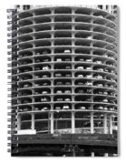 Chicago Marina City Parking Bw Spiral Notebook