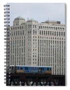 Chicago Merchandise Mart And Cta El Train Spiral Notebook