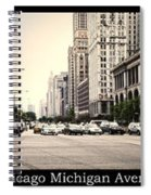 Chicago Michigan Ave Field Museum Art Institute Triptych 3 Panel Spiral Notebook