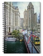 Chicago Michigan Avenue V Hdr Textured Spiral Notebook