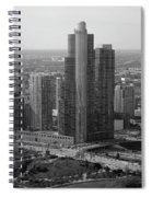 Chicago Modern Skyscraper Black And White Spiral Notebook