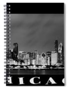Chicago Panorama At Night Spiral Notebook