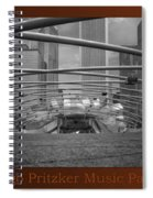 Chicago Pritzker Music Pavillion Sc Triptych 3 Panel Spiral Notebook
