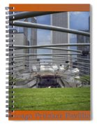 Chicago Pritzker Music Pavillion Triptych 3 Panel Spiral Notebook