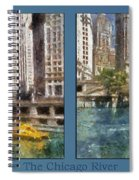 Chicago River 2 Panel Spiral Notebook