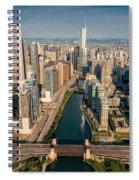 Chicago River Aloft Spiral Notebook